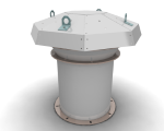 Вентилятор крышный осевой ВКОП 16-308